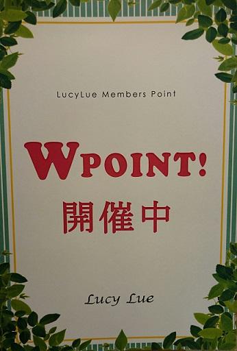明日から3日間Wポイント開催!