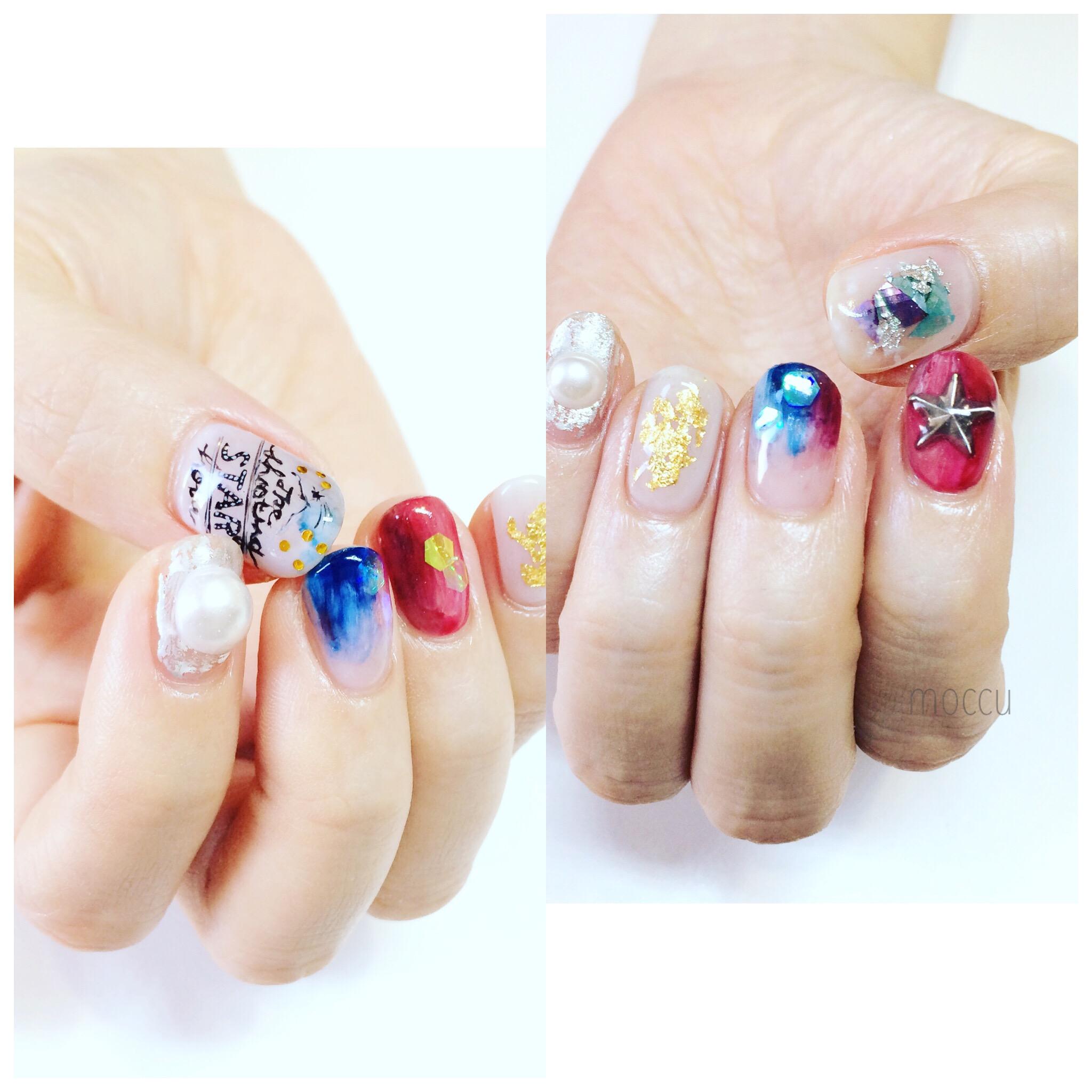 bridal nail 流れ星☆