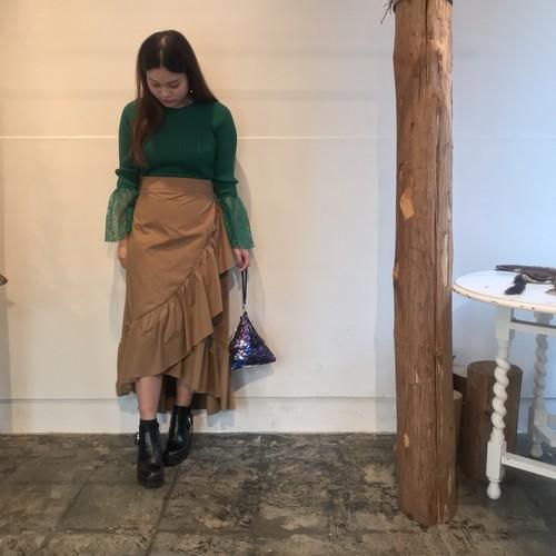 SugarRose/フリルラッフルヘムデザインスカート