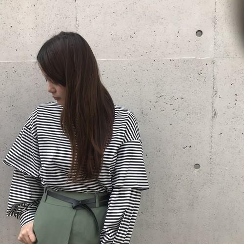 CLOCHE/肩フレアカットソー
