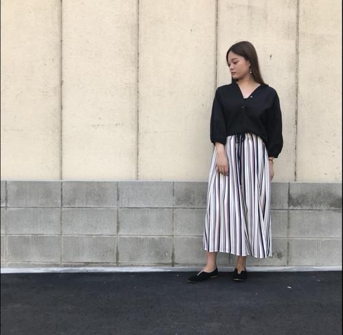 ANNAKERRY/ストライプ柄ガウチョパンツ