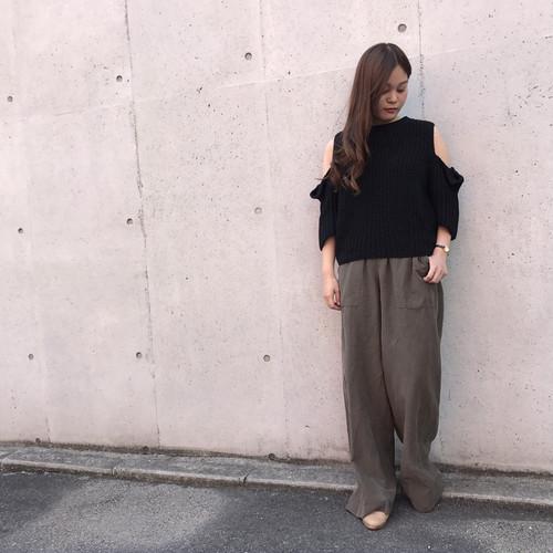 RIVER/リネンワイドパンツ