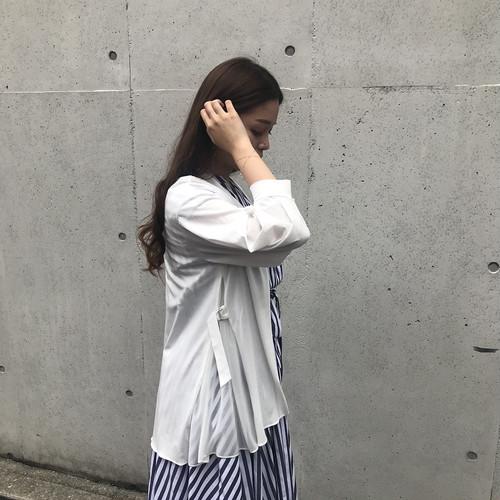 CLOCHE/サイドシフォン切り替えカーディガン