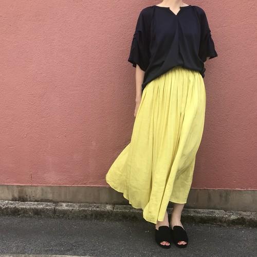 portcros/ギャザーフレアロングスカート