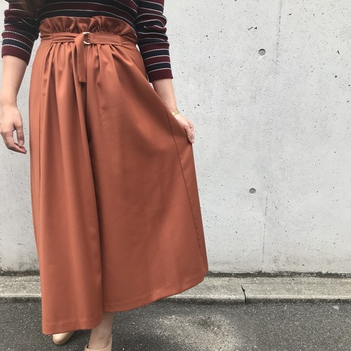 Doneeyu/ウエストベルト付きスカーチョ
