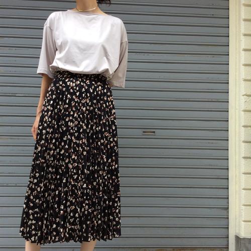 anana/柄プリーツスカート
