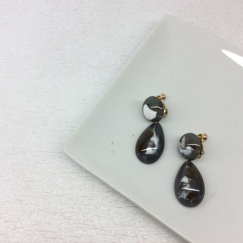 jewel casket/マーブル柄イヤリング