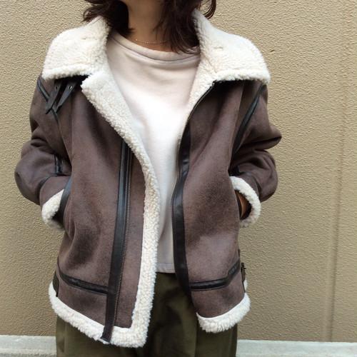 CLOCHE/ムートンフライトジャケット