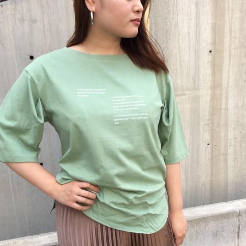 cloche/五分袖ロゴT