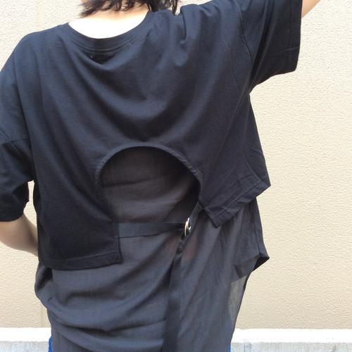 ANNA KERRY/バックシフォンTシャツ