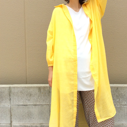 anana/カラーロングシアーシャツ