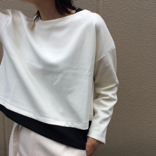 THOMAS MAGPIE/裾アシメショート丈カットソー
