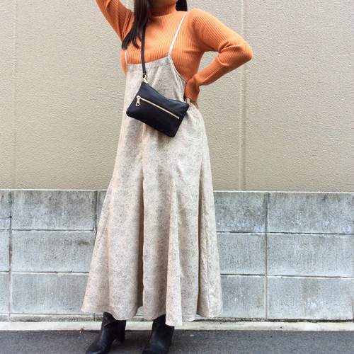 anana/ドットサロペットスカート